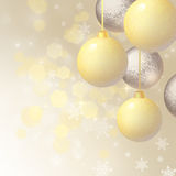 Background with Christmas balls Stock Images