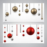 Background with christmas baubles. Abstract background with christmas baubles. Vector illustration Stock Images
