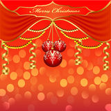 Background with Christmas baubles and beads Stock Image