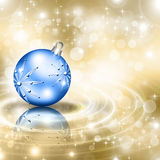 Background with Christmas baubles. And snowflakes, illustration Royalty Free Stock Photo