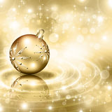 Background with Christmas baubles. And snowflakes, illustration Royalty Free Stock Images