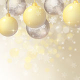 Background with Christmas baubles Stock Photos