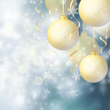 Background with Christmas baubles Royalty Free Stock Photos
