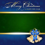 Background with Christmas bells Stock Images