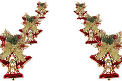 Background with Christmas bells and bows Stock Photography