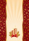 Background with Christmas candles Stock Image