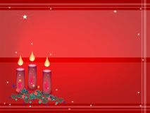 Background of Christmas Candles Decoration on Fir  Stock Photography
