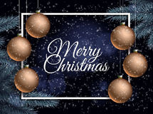 Background for Christmas card Stock Photography
