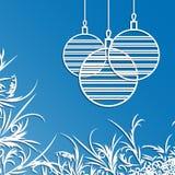 Background for Christmas card. Christmas balls. Background for Christmas card royalty free illustration