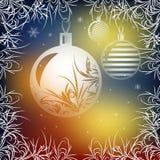 Background for Christmas card. Christmas balls. Background for Christmas card vector illustration