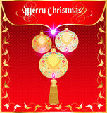 Background christmas card with decorative balls Royalty Free Stock Images