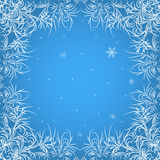 Background for Christmas card. Christmas background. Winter patterns on glass Royalty Free Stock Images