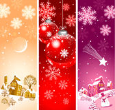 Background for christmas cards. Background for christmas cards with snowflakes and balls Stock Photo