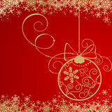 Background with Christmas decoration Stock Image