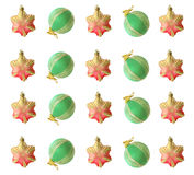 The background of Christmas decorations. Christmas pattern Christmas tree decorations for the background Stock Images