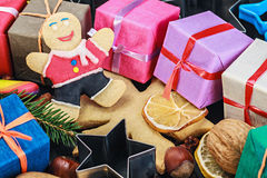 Background of Christmas  decorations Stock Image