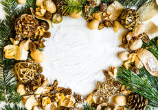 Background with Christmas decorations Stock Photos