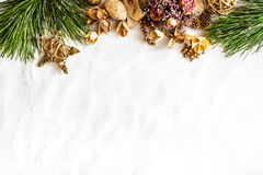 Background with Christmas decorations Stock Images