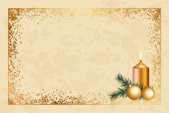 Background with christmas decorations. Vector parchment background with christmas decorations Stock Photography