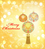 Background Christmas with decorative balls and seq Stock Photography
