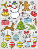 Background with christmas elements Stock Photo