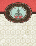 Background with christmas elements, vector Stock Image