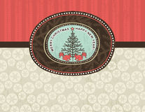 Background with christmas elements, vector Royalty Free Stock Photo