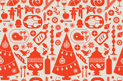 Background with Christmas food. Stock Photos
