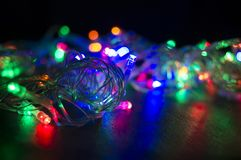 Background with Christmas garland Royalty Free Stock Image