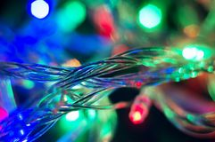 Background with Christmas garland wire Stock Photography