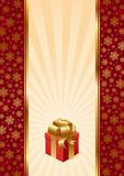 Background with Christmas gift Royalty Free Stock Photo