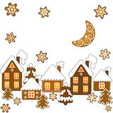 Background with Christmas gingerbread Stock Photography