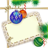 Background for Christmas greetings invitation or gift Royalty Free Stock Images