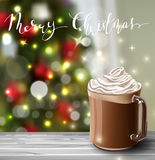 Background with Christmas hot chocolate Royalty Free Stock Photo