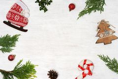 Background of christmas items Royalty Free Stock Photos