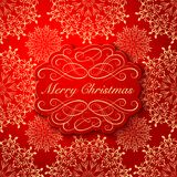 Background with Christmas Label. Greeting Card Royalty Free Stock Photography