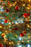 Background christmas of lighting with decorations Stock Photography