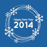 Background for Christmas and the New Year. With snowflakes Royalty Free Stock Images