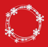 Background for Christmas and the New Year. With snowflakes Stock Image