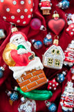 Background with christmas ornaments Stock Photography