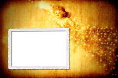 Background and christmas picture frame Stock Images