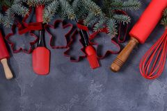 Background for Christmas recipe Royalty Free Stock Images