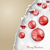 Background with Christmas balls. Background with Christmas red balls and bows Stock Image
