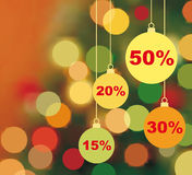 Background of Christmas sale Stock Image