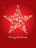 Background -- Christmas star. Illustration, red Background -- Christmas star Stock Image
