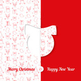 Background with Christmas symbol pattern. Christmas and New Year greeting card templates - ball Royalty Free Stock Images
