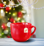 Background with Christmas tea Royalty Free Stock Photography