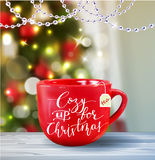 Background with Christmas tea Royalty Free Stock Photo