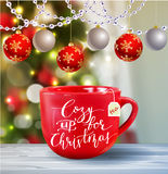Background with Christmas tea Royalty Free Stock Image