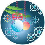 Background with Christmas toys Royalty Free Stock Photography